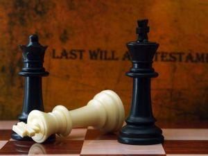 Fallen chess piece