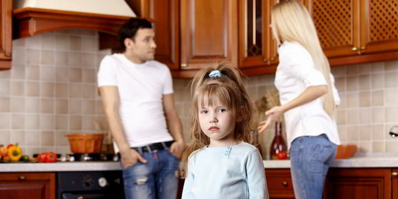 Child is divided over quarreling parents