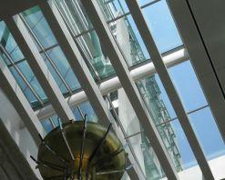 Interior view of skylight in lobby