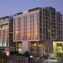 RSA Dexter Avenue Building after sunset