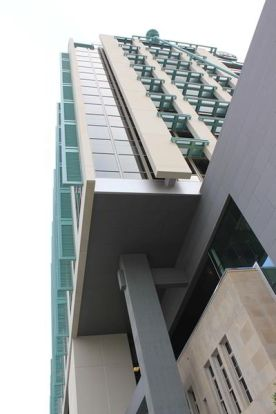 Skyward view of structural design
